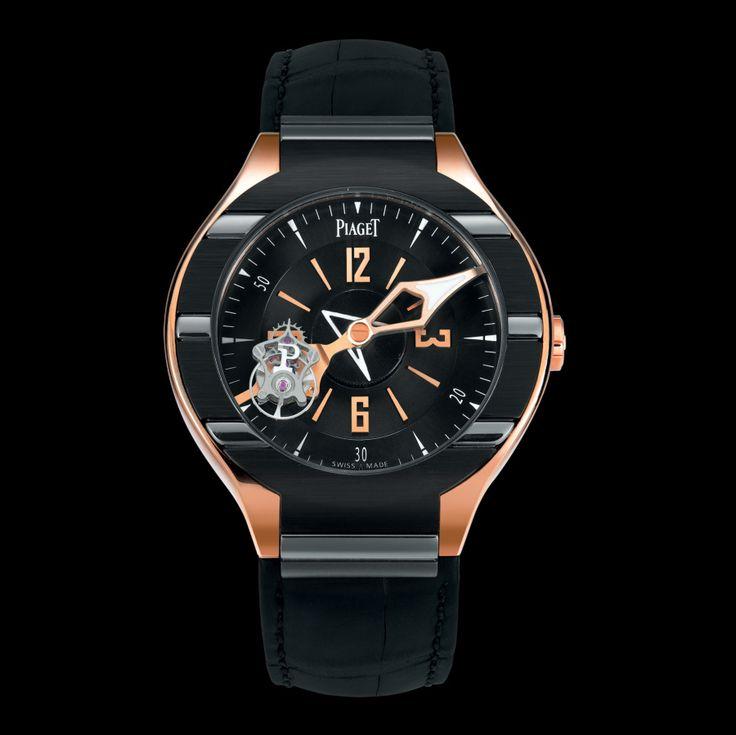 Pink gold Tourbillon Watch - Piaget Luxury Watch G0A35124