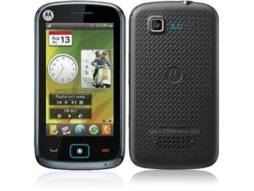 A touchscreen bar phone at low cost budget, Motorola EX122.