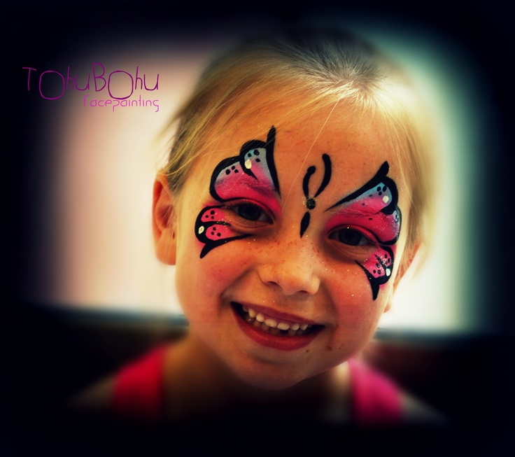 Maquillage papillon fille cute butterfy design for girl kids craft ideas pinterest girls - Maquillage simple enfant ...