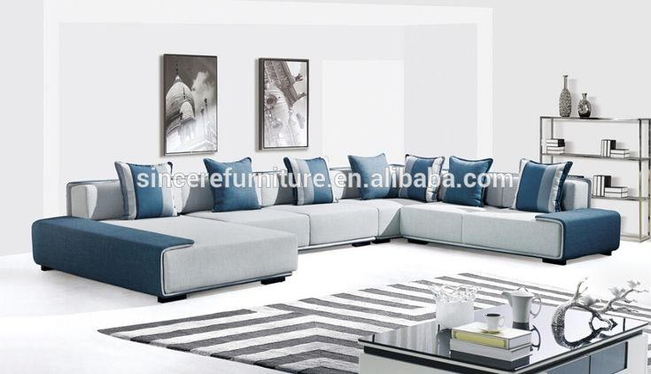 Italian Design Fabric Corner Sofa Set Modern Style Living Room Fabric Sofa…