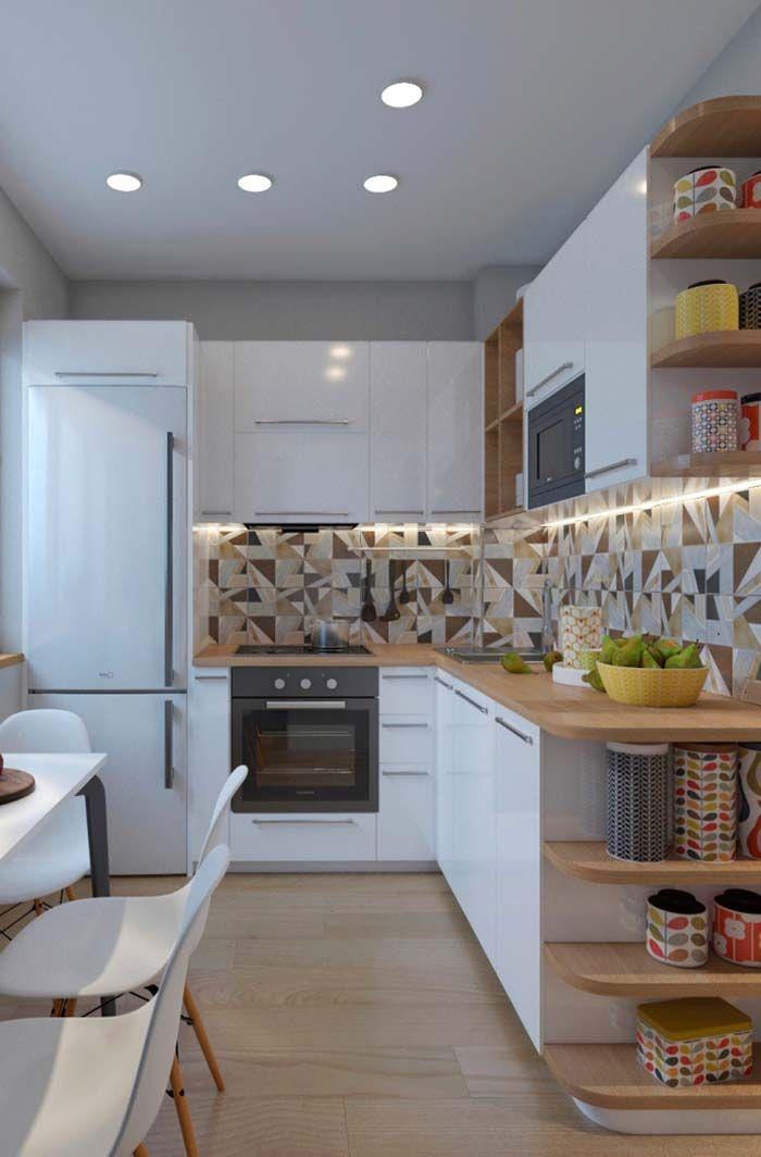 Cozinha Planejada Em L Branca Com Imagens Decoracao Cozinha