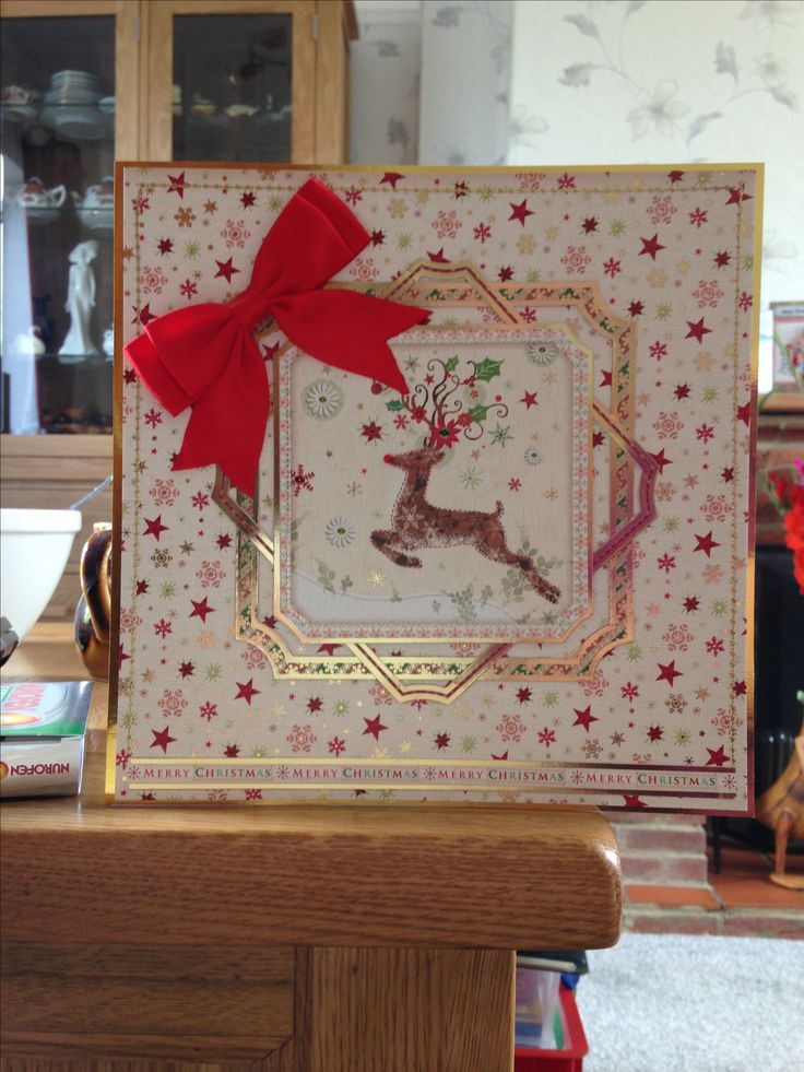 "Christmas Card (78) - 8""x8""- makings from Hunkydory"