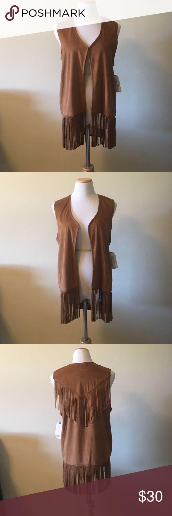 """NWT Fringe Vest NWT Fringe Vest. 30"""" long. Jolt Jackets & Coats Vests"""