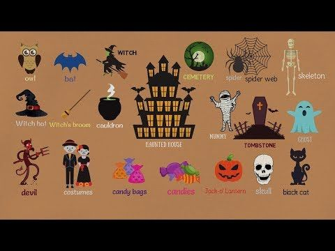 Halloween Vocabulary in English | Talking about Halloween | 7 E S L