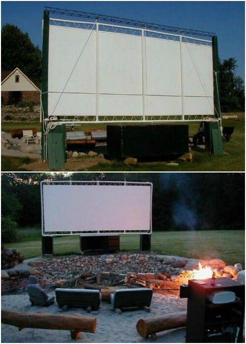 Construir una sala de cine del patio trasero