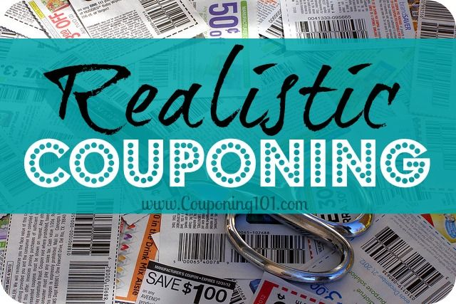 Realistic couponing for those of us who aren't looking to make cutting coupons a full-time job.