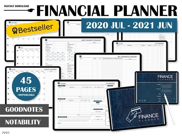 Digital planner Financial Planner IPAD planner 2020 2021
