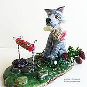 Куклы и игрушки ручной работы. Ярмарка Мастеров - ручная работа Волк Гурман из бисера. Handmade.