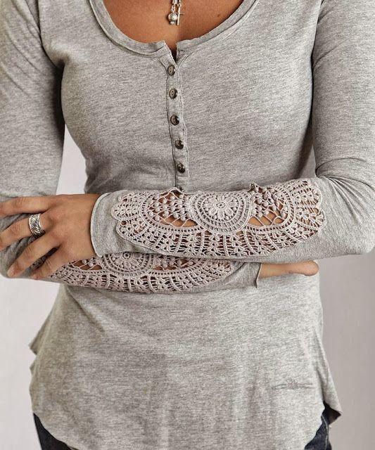 Gray Arm Detail Blouse