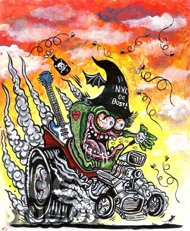 Rat Fink | Rat fink, Art cars, Kustom kulture art