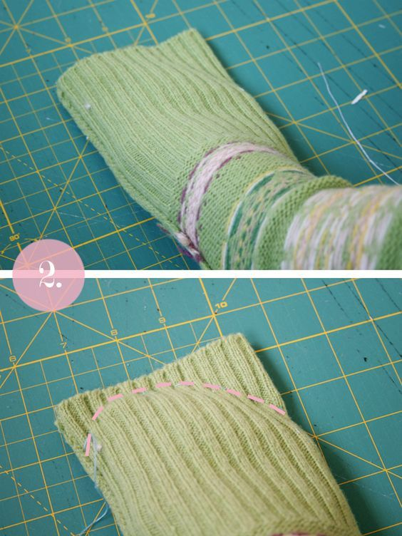 """I'm so excited to share this tutorial with you! The creation of these socks was like an """"ahaa"""" moment. I have been trying to think of ways to upcycle sweater sleeves (I already know how to upcycled the body part) that I have left over from previous projects. And then, on a whim I put …"""