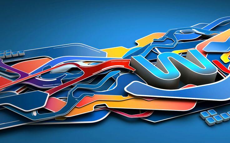 Скачать обои в разрешении 1920x1200 голубой, 3D, графика, абстракция, 3D графика, Абстрактные рисунки пикс.