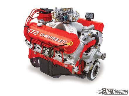"""The big-block Chevy V-8 first popped into view at Daytona in early 1963. Then, when GM suddenly pulled out of racing almost simultaneously, the 427ci, canted-valve engine popped back out of view so quickly it became known as the """"mystery motor."""" When the production version eventually appeared in 1965, the engine lost a bit of its mystique but none of its mojo. Passenger car versions displaced 396, 427, and ultimately 454 ci as big-block Chevrolets carved out a major chunk of muscle car-era."""