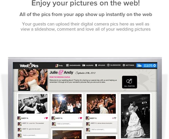 WedPics - The free photo sharing app for your wedding