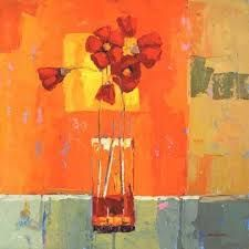 Flowers in a vase - love the saturated colours!