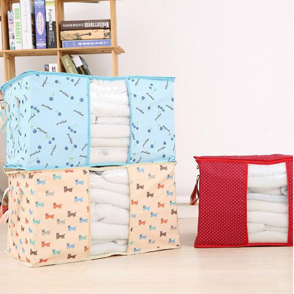 Multicolor Brief Travel Storage Bags Portable Foldable Fashion Soft Oxford Large Home Storage & Organizer Travel Bag in Bags