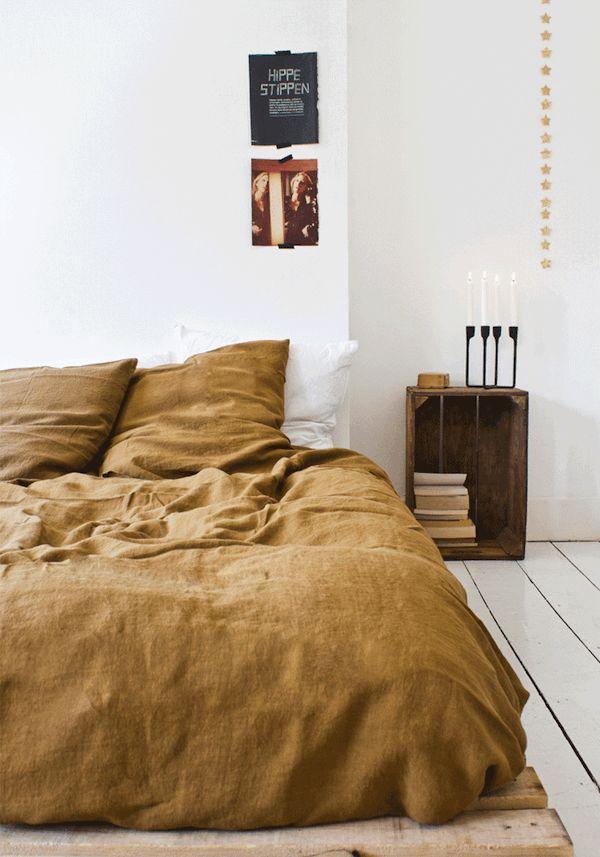 Jolie couleur de draps de lit
