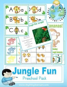 Free Jungle Preschool Pack from Itsy Bitsy Learners