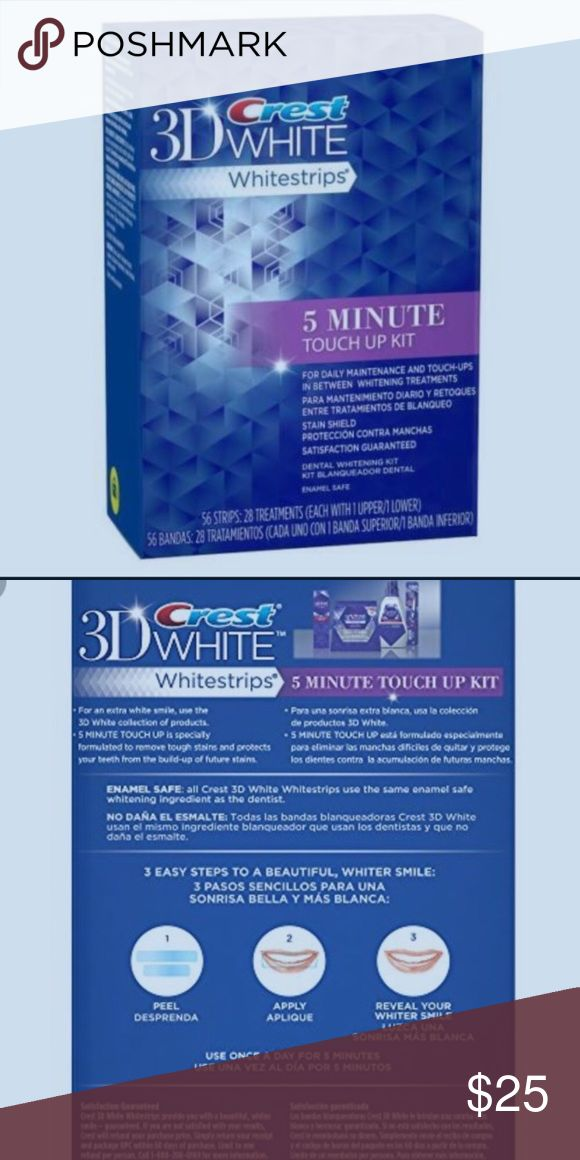 3D Crest White 5 minutes Touchup strips Expiration 6/2017. Crest Touch up Strips🌟🌟🌟🌟 Box is seal s in original plastic Crest Other