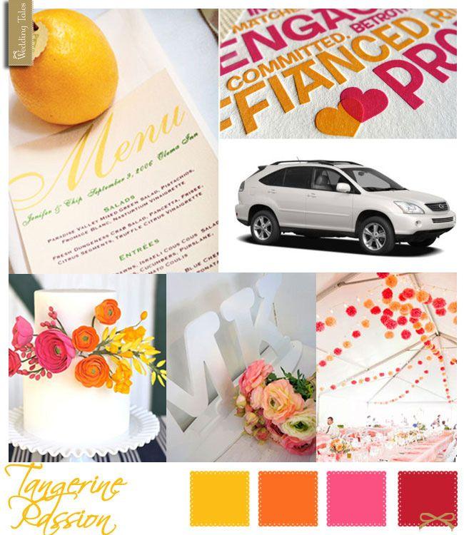 Wedding Moodboard   Tangerine Passion