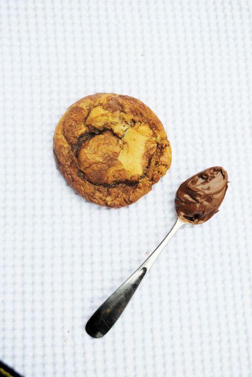 Nutella Swirled Chocolate Chunk Cookies