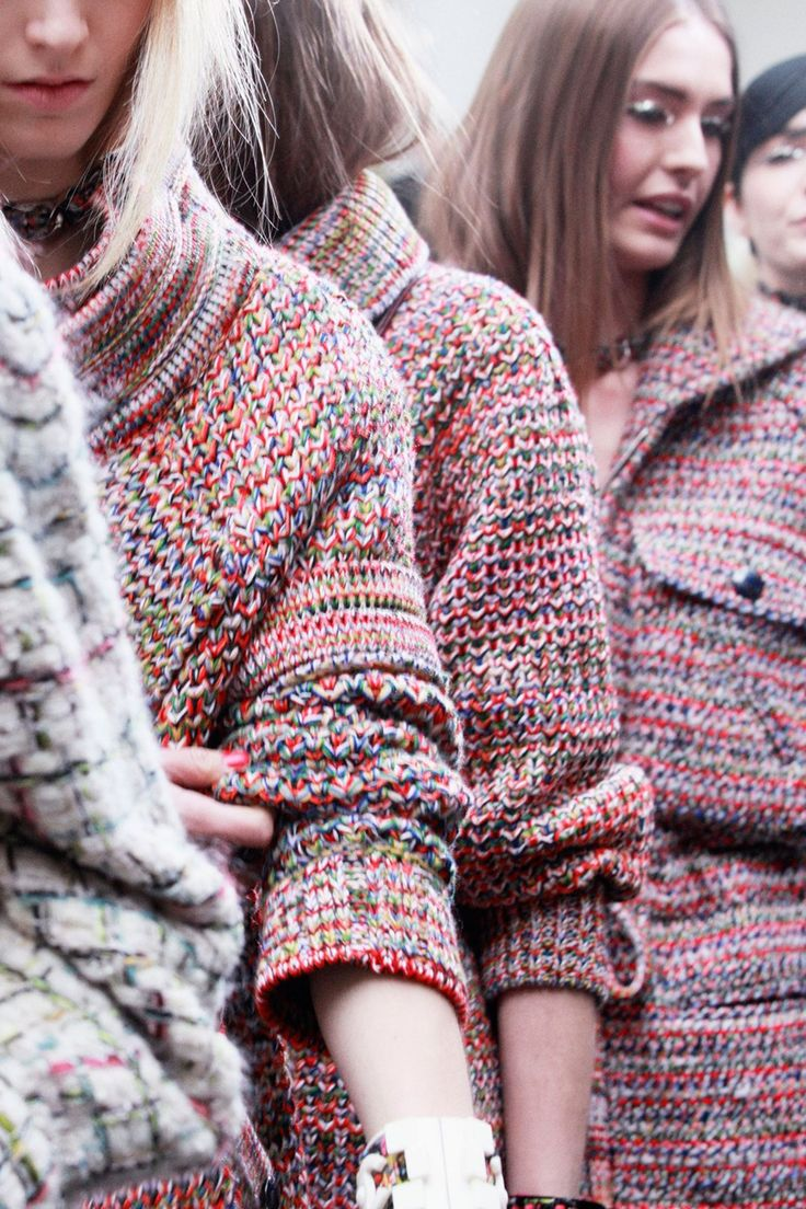 """lilyetcerises: """"colourful knit at Chanel AW13 """""""