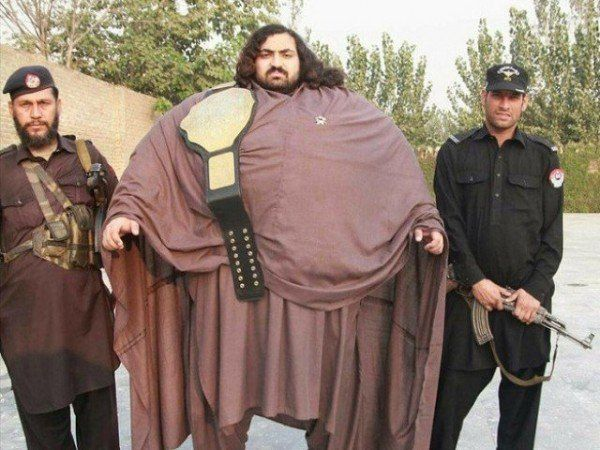 436-Kilogram Pakistani Hulk Claims to Be World's Strongest Man - http://www.odditycentral.com/news/436-kilogram-pakistani-hulk-claims-to-be-worlds-strongest-man.html
