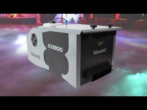 Beamz ICE1800 Low Fog Dry Ice Effect Smoke Machine 1800W Stage DJ Party - YouTube