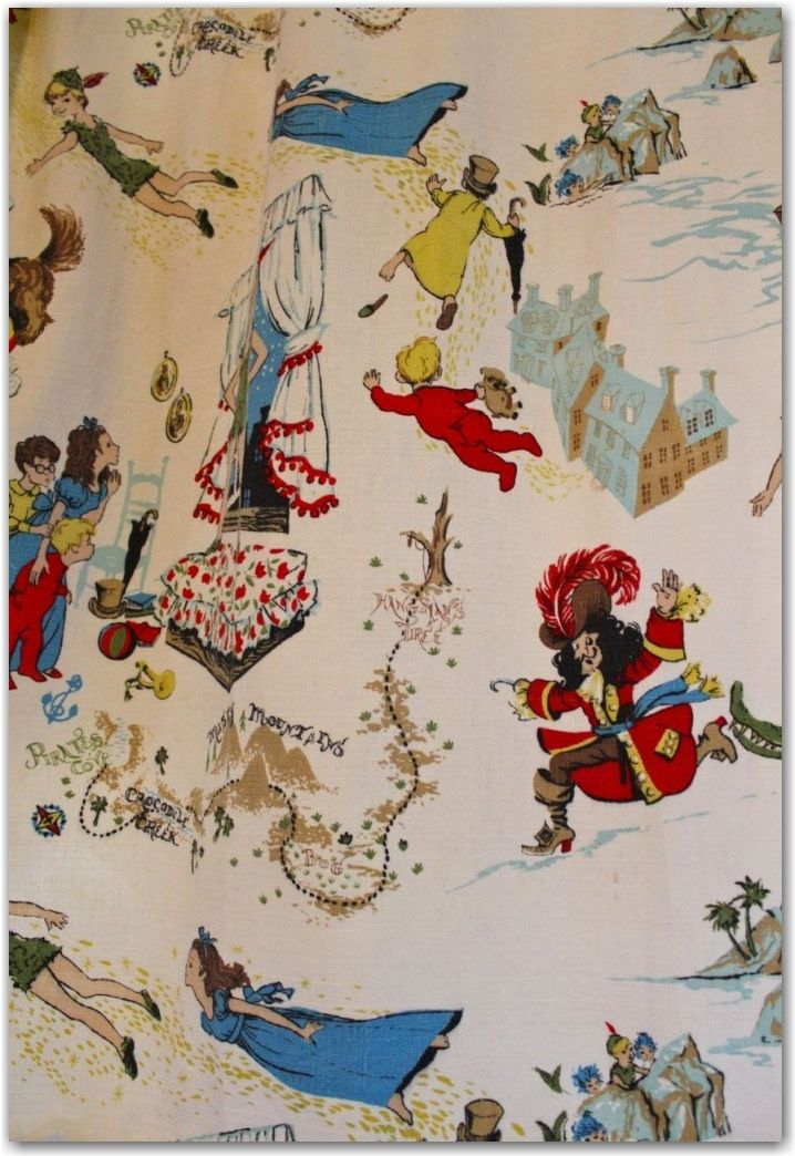 Vintage Peter Pan Fabric Fabric Hoarding Pinterest