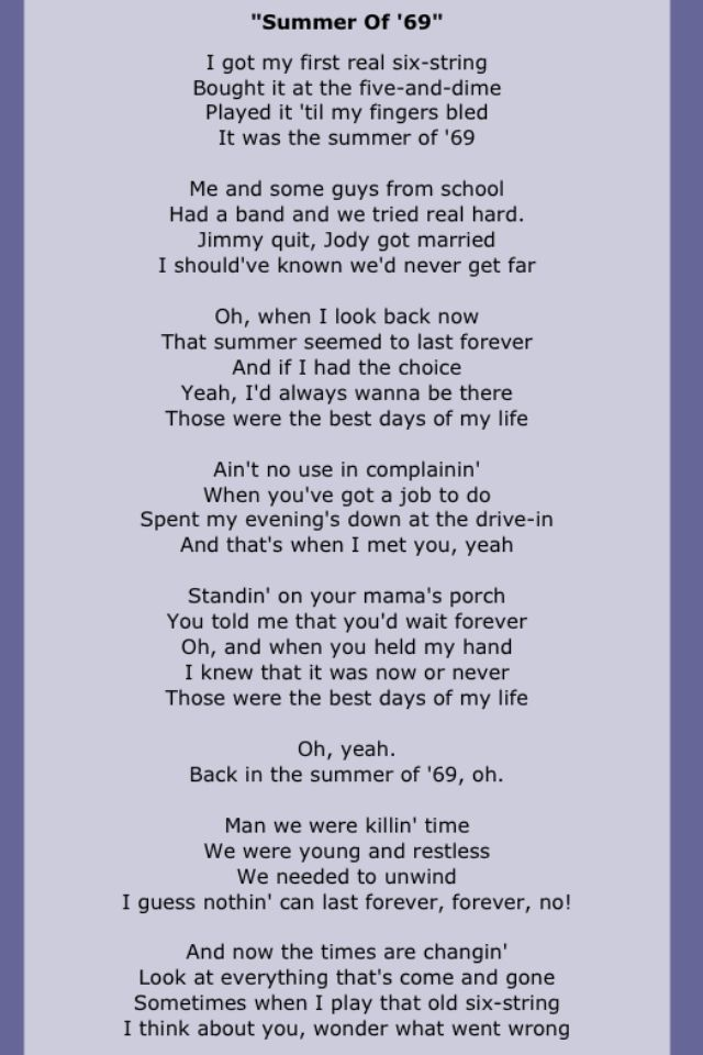 Best 25 Bryan Adams Lyrics Ideas On Pinterest Song