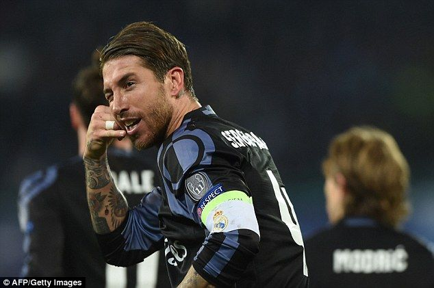 Sergio Ramos marked his goal for Real Madrid on Tuesday evening with a 'call me' celebration