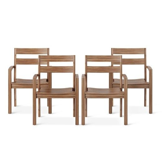 This simple yet stylish dining arm chair from FSC Indonesian tropical hardwood is a versatile design which can compliments dining, coffee, and folding tables. Easy storage as it can be stacked up to 4 chairs high. It is a beautiful addition to your garden, backyard, and patio furniture.