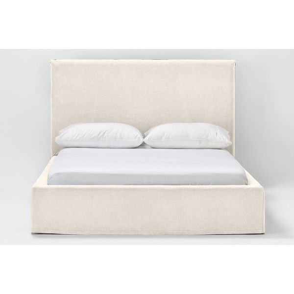 Shop Our Sheridan Avallon Slip Covered Bed In Oyster And Choose