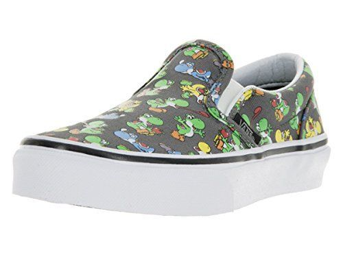 Vans Boy's Classic Slip-On - Nintendo Skateboarding Shoes ** For more information, visit image link.