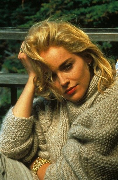Stone as Catherine Trammel, a bisexual, serial killer and fictional writer in Basic Instinct who lusts after a detective, played by Michael Douglas, when he suspects her of murder. A controversial(at the time) but great movie!