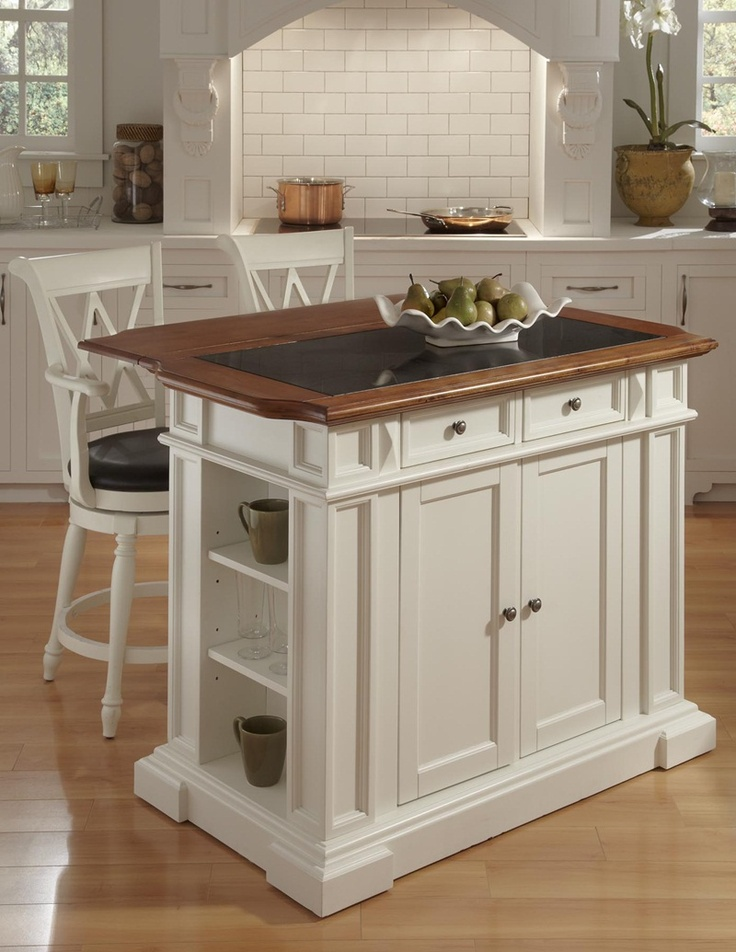 home styles large granite top kitchen island set with 2 swivel stools antique white u0026 oak become a culinary rock star in the kitchen with help from the