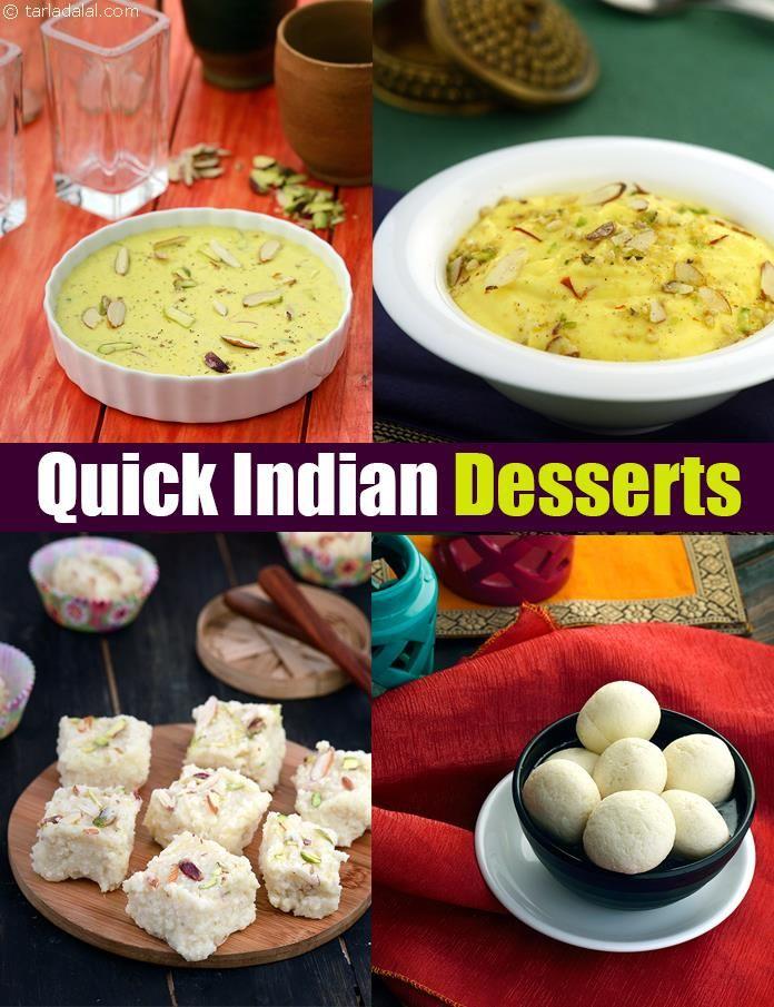 Quick Indian Desserts Quick Mithai Recipes Indian Dessert Recipes Indian Desserts Healthy Dessert Recipes