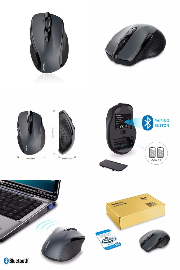[Visit to Buy] TeckNet 2400DPI Bluetooth Wireless Mouse, 24 Month Battery Life With Battery Indicator, 2400/1500/1000dPi for laptop #Advertisement