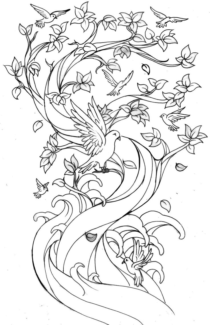 46 best tattoos images on pinterest - Cherry Blossom Tree Coloring Pages