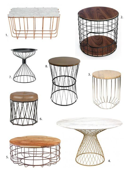 25 Best Ideas About Wire Side Table On Pinterest Plant