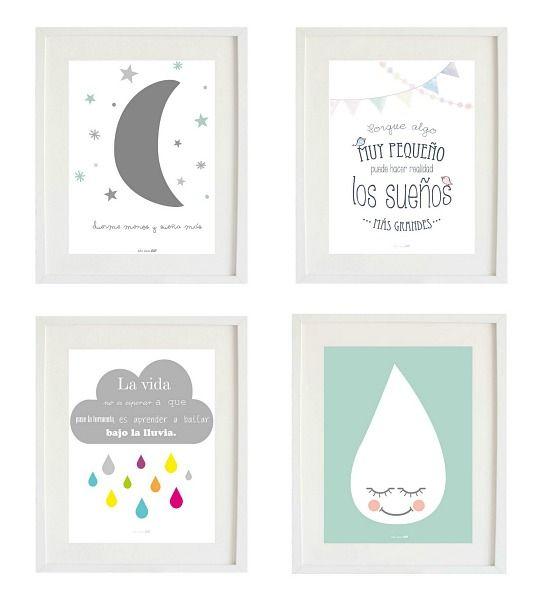 Las 25 mejores ideas sobre laminas infantiles en - Cuadros para habitacion de bebe ...