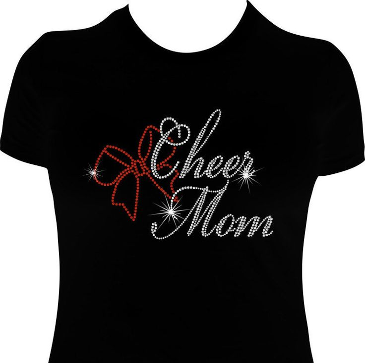 Cheer Mom, Cheer Bow, Mom Cheerleading Shirt, Rhinestone Cheer Mom, Bling Cheer Mom Shirt, Mom Gifts, Mom shirts, by WizardMadeIt on Etsy