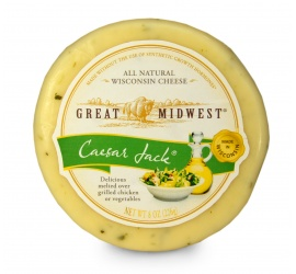 If you love flavored Monterey Jack cheeses, you'll love Great Midwest® Caesar Jack®! This tantalizing treat adds a special kick of flavor to everything it touches and works especially well in omelets. Its easy-to-melt quality makes it a versatile kitchen topping for chicken, steamed vegetables and lasagnas. It's also perfect for snacking - just slice or cube and enjoy! #PinnerOfTheWeek