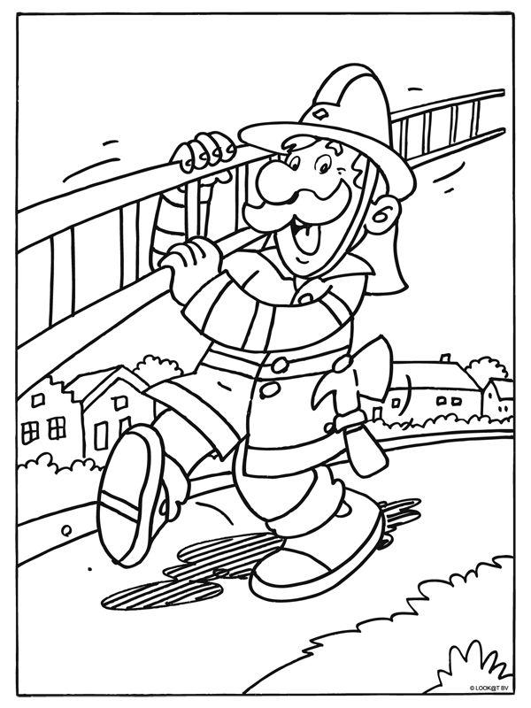 * Brandweerman met ladder!