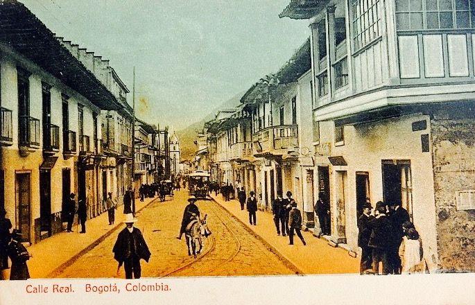 Calle Real de Bogotá hacia 1910