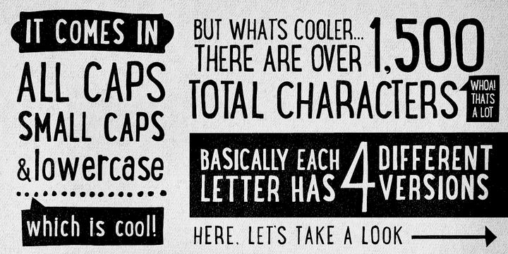 Lunchbox is a uniquely handdrawn typeface that gives infinite customizable options and a fully authentic look.