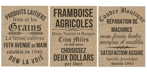 Free Printables- French Inspired Vintage Grainsack Prints — The Mountain View Cottage