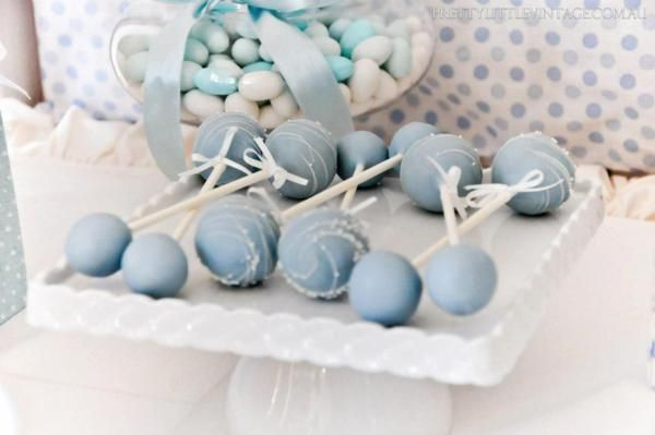 Cake pop rattles at a Baby Shower via Kara's Party Ideas @HUGGIES Baby Shower Planner Baby Shower Planner
