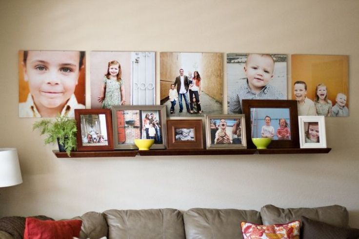 34 id es de d co pour accrocher des photos au mur d coration murale pinterest accrocher. Black Bedroom Furniture Sets. Home Design Ideas