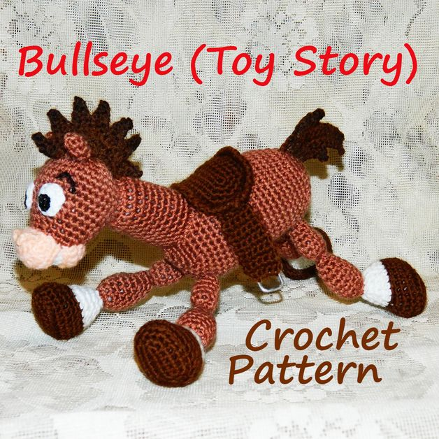 Toy Story Knitting Patterns Woody : Crochet Pattern. Bullseye (Toy Story) Cartoon, Toy story and Fans